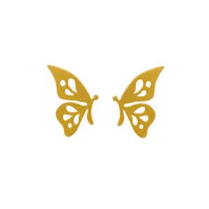 Σκουλαρίκια Πεταλούδα σε Κίτρινο Χρυσό Κ14 ΣΚ0829