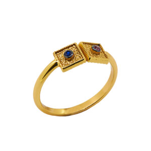 Βυζαντινό Δαχτυλίδι από Επιχρυσωμένο Ασήμι 925 ΑΔΚ0223